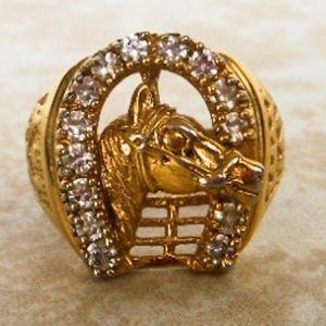 Other - Mens Gold Horseshoe Ring  Size 12 1/2